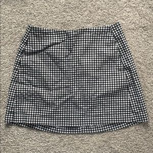 Urban outfitters b&w check skirt